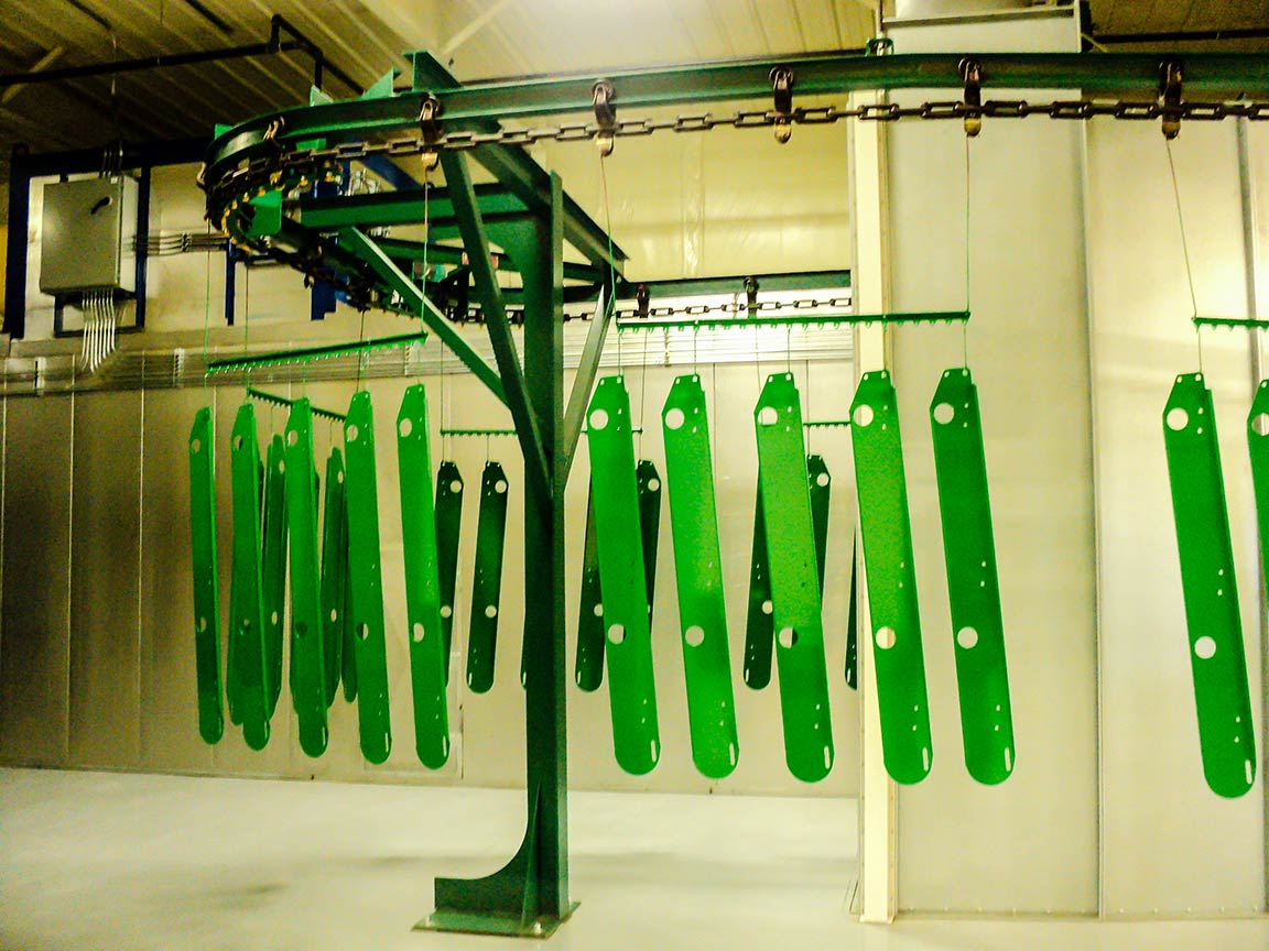Powder Coat Green Racks 2